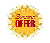 Summer offer sign illustration design — Stock Photo