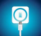 Tech battery recharge illustration design — Stock Photo