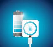 Battery recharge illustration design — Stock Photo