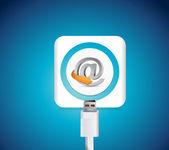 Online internet battery recharge illustration — Stock Photo