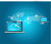 Computer cloud computing connection illustration — Stock Photo