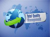 Total quality management globe sign illustration — Stock Photo