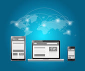 Web platforms and world connection illustration — Stock Photo