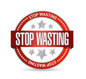 Stop wasting seal illustration design — Stock Photo
