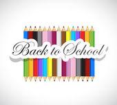 Back to school colors illustration design — Zdjęcie stockowe