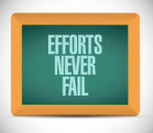 Efforts never fail message illustration — Stock Photo