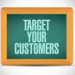 Target your customers message illustration — Stock Photo #50813817