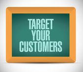 Target your customers message illustration — Stok fotoğraf