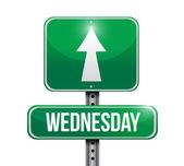 Wednesday street sign illustration design — Stock Photo
