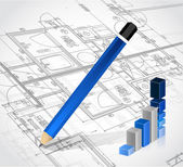 Business blueprints illustration design — Stock Photo