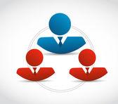 People communication diagram illustration — Stock Photo