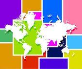 World map illustration design — Stock Photo