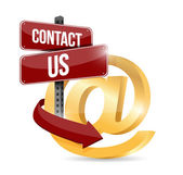 Contact us at symbol illustration design — Stock Photo