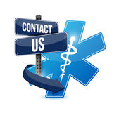 Contact us medical symbol illustration design — Stock Photo
