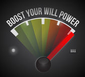 Boost your will power to the max illustration — Stock Photo
