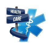 Health care sign symbol illustration design — Stock Photo