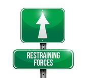 Restraining forces street sign illustration design — Stok fotoğraf