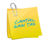 Capital gain tax post illustration design — Stock Photo