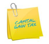 Capital gain tax post illustration design — Stock Photo