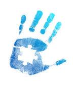 Puzzle hand print illustration design — Stock Photo