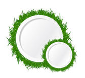 Grass and circles text spaces. illustration design — Stock Photo