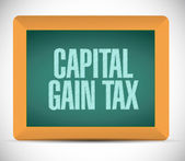 Capital gain tax message board illustration — Stock Photo