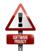 Software privacy sign illustration design — Stock Photo