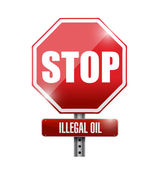 Stop illegal oil sign illustration design — Stock Photo