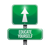 Educate yourself sign illustration design — Stock Photo