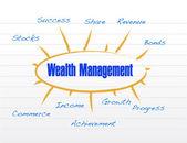 Wealth management model illustration design — Foto de Stock