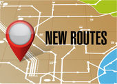 Gps map new route illustration design — Stock Photo