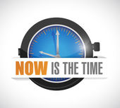 Now is the time watch illustration design — Stock Photo