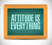 Attitude is everything message on board. — Stock Photo