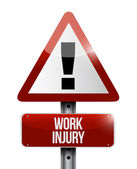 Work injury warning sign illustration design — Stock Photo
