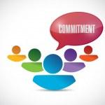 Commitment teamwork message illustration — Stock Photo #51539329