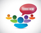 Commitment teamwork message illustration — Stock Photo