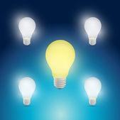 Light bulbs yellow and white illustration design — Stock Photo