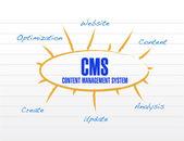 Cms model diagram illustration design — Stock Photo