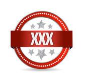 Xxx seal illustration design — Stock Photo