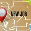 New job on map illustration — Stock Photo #51660047