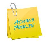 Achieve results memo illustration design — Stock Photo