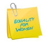 Equality for women memo illustration design — Stock Photo
