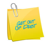 Get out of debt memo illustration design — Stock Photo