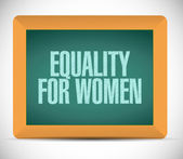 Equality for women message illustration design — Stock Photo