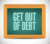 Get out of debt message illustration design — Stock Photo