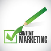 Content marketing check mark illustration design — Stock Photo