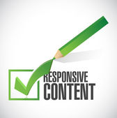 Responsive content check mark illustration design — Stock Photo