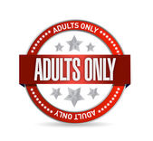Adults only seal illustration design — Stock Photo