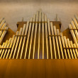 Church organ pipes — Stock Photo