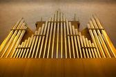 Church organ pipes — Stock Photo